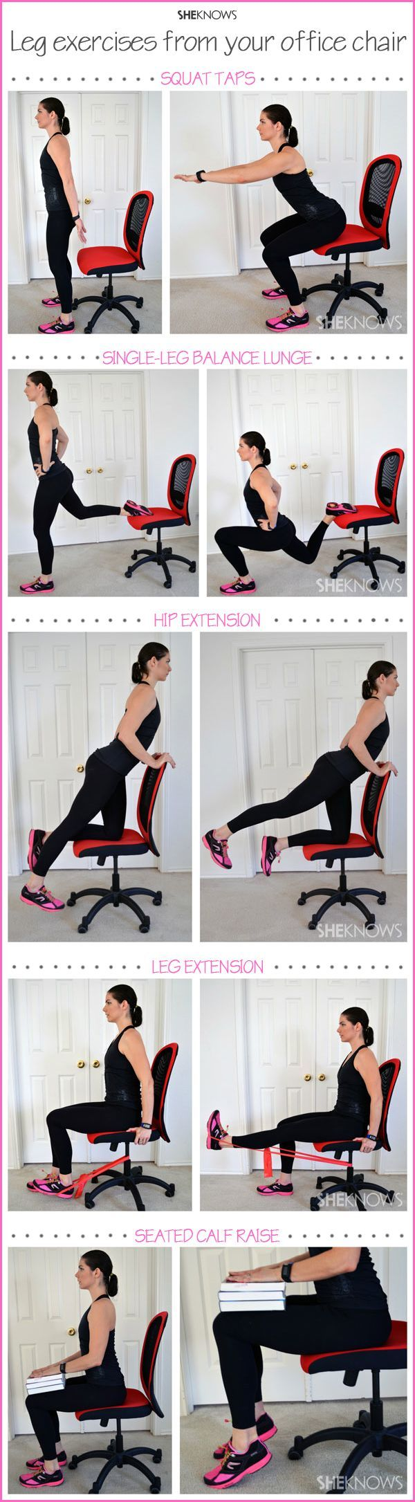 Work out your legs while sitting at your desk