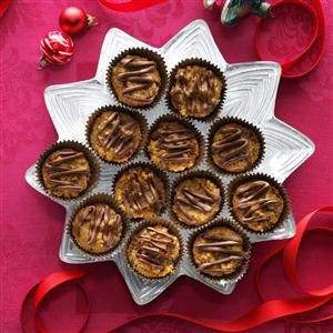 French Christmas Cookies Recipe -These moist treats will have everyone reaching for more. Folks tell me they enjoy the cookies. In fact, the batches I make ahead for my family and store in the freezer seem to mysteriously disappear each year—even though the chocolate topping I put on before serving hasn't been added yet! —Judy Wilder, Mankato, Minnesota