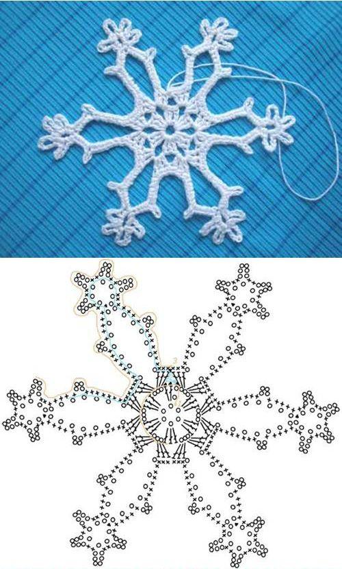 Wonderful DIY Crochet Snowflakes With Pattern | WonderfulDIY.com