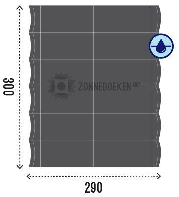 De Nesling harmonicadoeken zijn van 280 gr/m2 HDPE waterdoorlatende stof. Zo kan het regenwater niet in de lussen blijven staan. Alles wat je nodig hebt wordt in de verpakking meegeleverd; het doek, de aluminium baleinen, rvs staaldraad, draadhouders, spanners, koord een complete katrolset om het doek te kunnen openen en sluiten en een