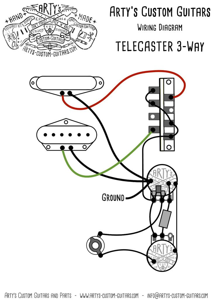 26 best wiring diagram guitar kit images on pinterest artys custom guitars telecaster standard wiring kit pre wired prewired kit harness control plate artys cheapraybanclubmaster Images