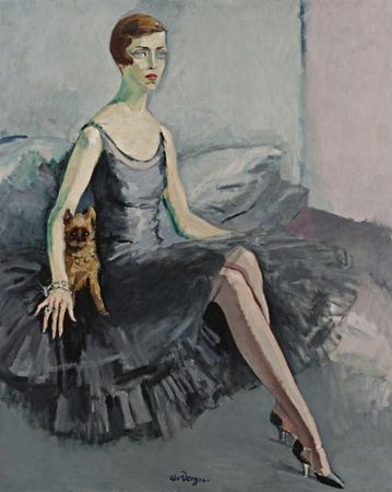 Kees van Dongen.  Portrait of Ms. Jean McKelvie Sclater-Booth, 1920.