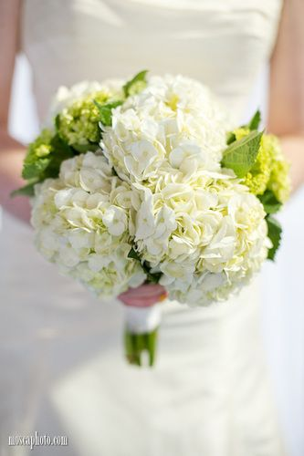 White and Green Hydrangea Bouquet © http://www.MoscaPhoto.com