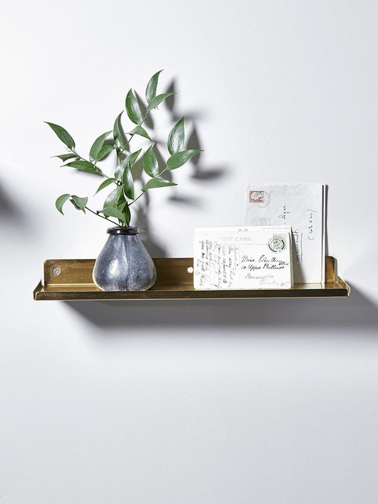 NEW Brass Metal Shelf