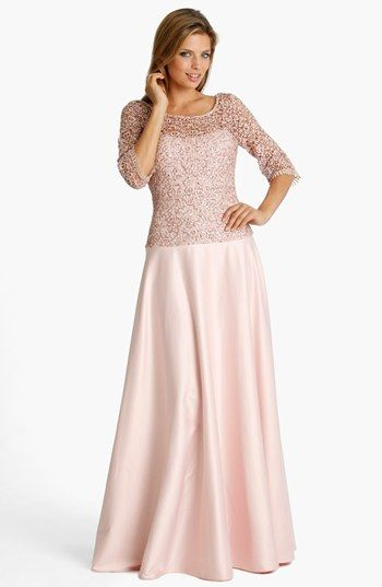 JS Collections Lace & Satin Gown available at #Nordstrom