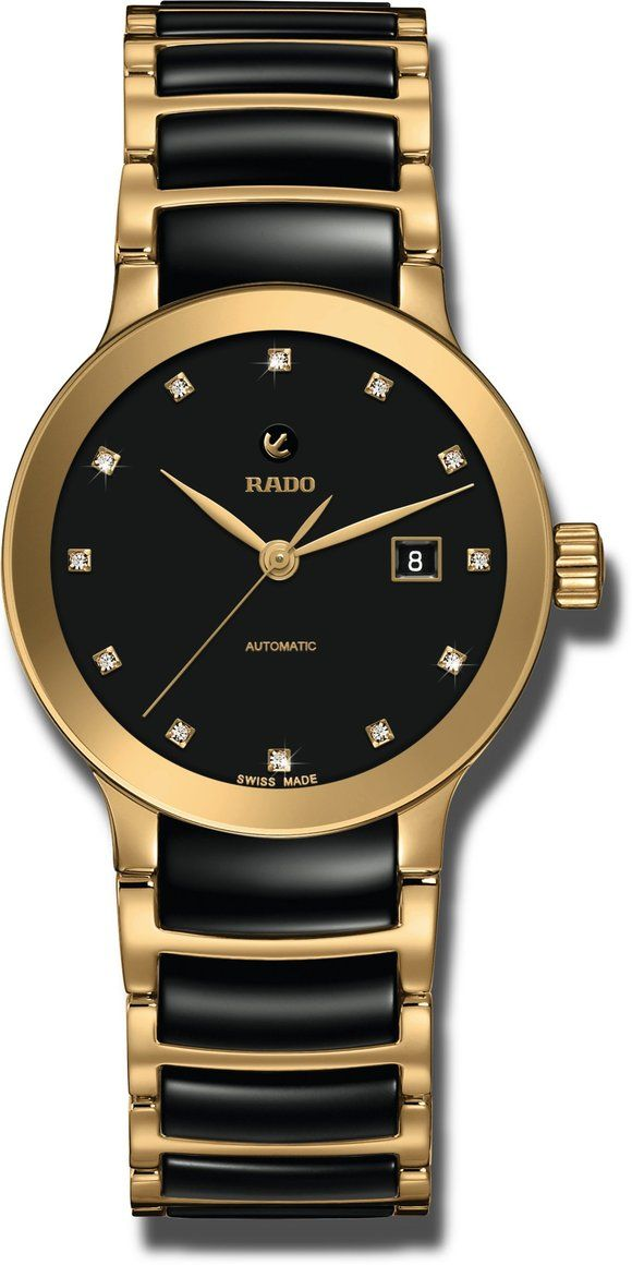 Rado Watch Centrix Automatic R30080762 C W Sellors Luxury Watches Rado Swiss Watch Brands Gold Hands