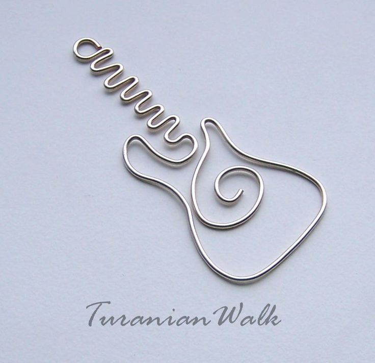 wire guitar bookmark on Etsy