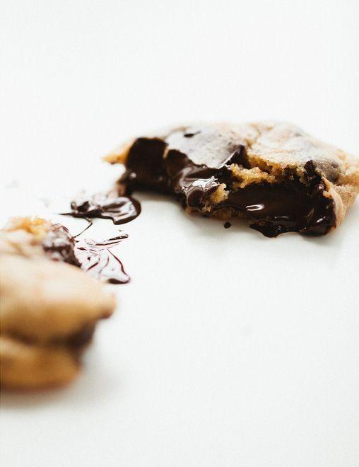 caramel chocolade koekjes, recept op de site via de foto.