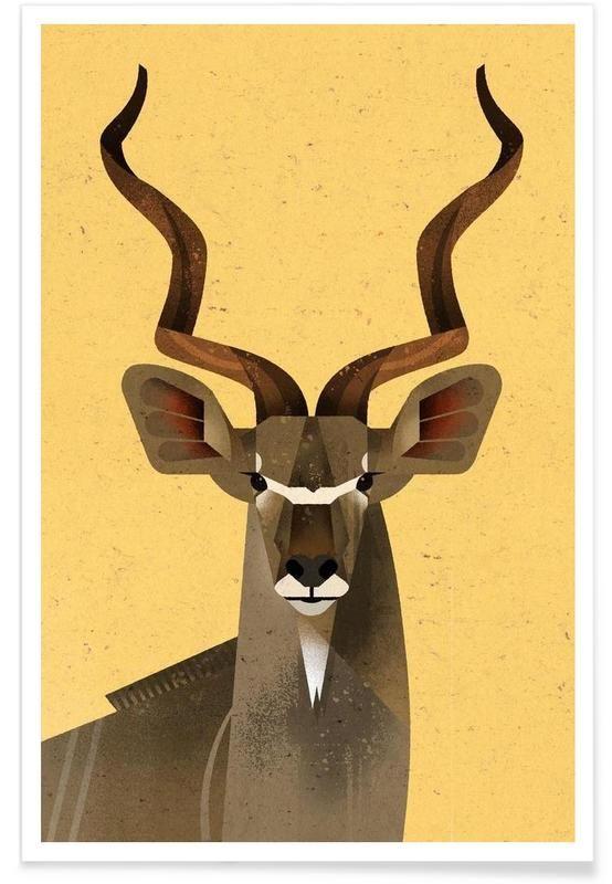 Großer Kudu as Premium Poster