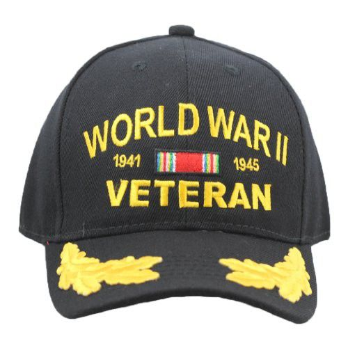 WWII Veteran Hat With Scrambled Eggs For Men and Women, Military Collectibles