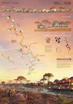 IWC África anuncia os vencedores do concurso para um centro de visitantes no Parque Nacional Kruger,Menção Honrosa: INDUKU. Cortesia de Arquideas