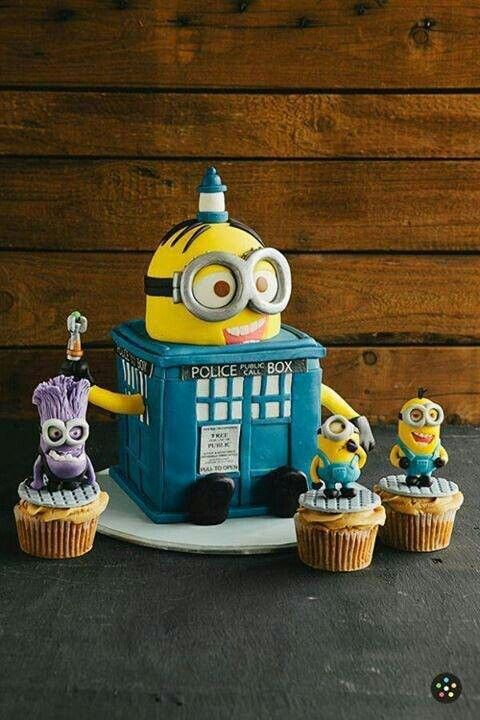 Minion Dr. Who birthday cake!