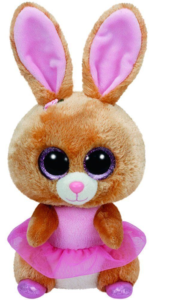 Amazon.com: Ty Easter 2016 Beanie Boos Twinkle Toes the Ballerina bunny and Lavender the Purple Lamb: Toys & Games