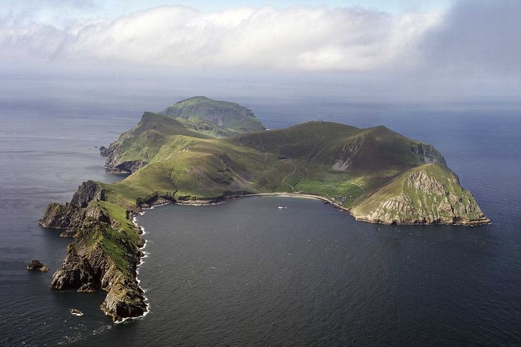 Stunning: The exhibition features this shot of the isolated St Kilda island, the westernmost archipelago of the Outer Hebrides