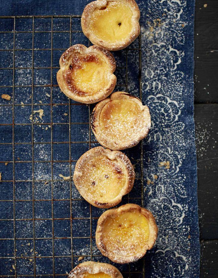 Passion-fruit custard tarts