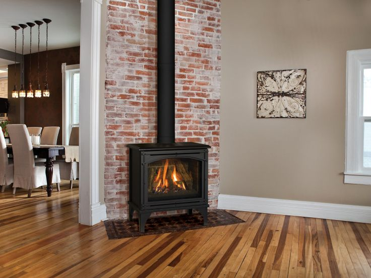 The Birchwood free-standing gas fireplace provides the detailing of a wood  burning stove, - Best 25+ Wood Gas Stove Ideas Only On Pinterest Gas Stove, Gas