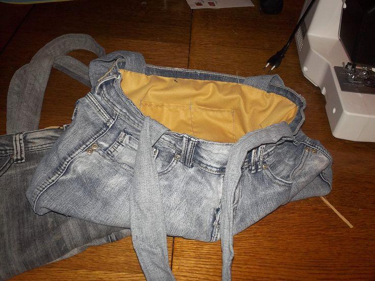 Cartera de jeans