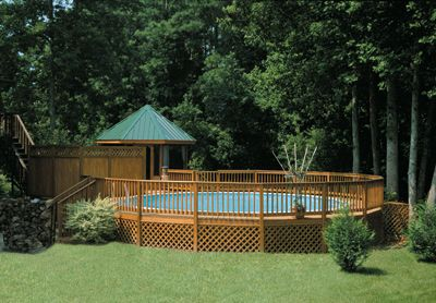 Above+Ground+Pools+Decks+Idea   When you choose an above ground swimming pool for your backyard, you ...
