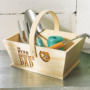 Personalised 'The Head Gardener' Trug - personalised gifts for him