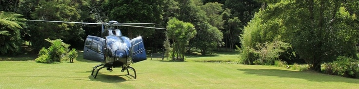 Heli in Bushland Park Lodge & Retreat Whangamata