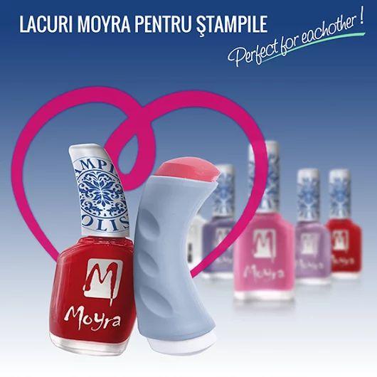 Pentru ca stim cat de mult v-au placut matritele si stampilele Moyra pentru nail art, ne-am gandit sa va facem o surpriza si sa ''intregim'' familia de produse Nailshop cu lacuri speciale pentru acestea :). Le gasiti pe toate, aici: http://bit.ly/1OtM4am
