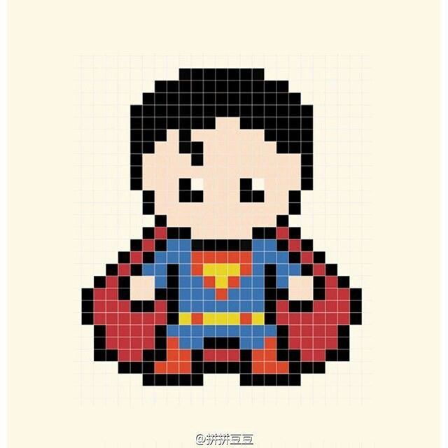 Perler bead Superman