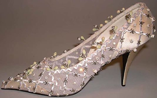 Wedding Shoes, House of Dior, 1957, French