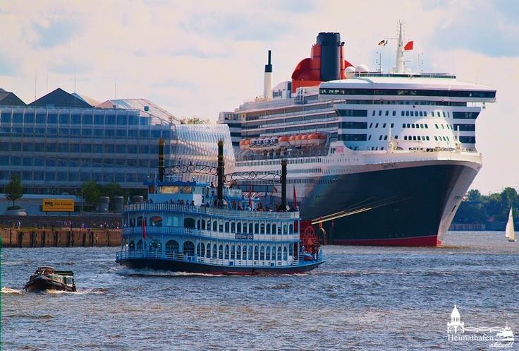 Sie wird auch wieder Gast auf dem Hafengeburtstag sein: Die Queen Mary 2 www.heimathafen-aktuell.de #hamburg #germany #harbour #harbourbirthday #louisianastar #queenmary2 #welovehh #photograph #hamburgphotographer