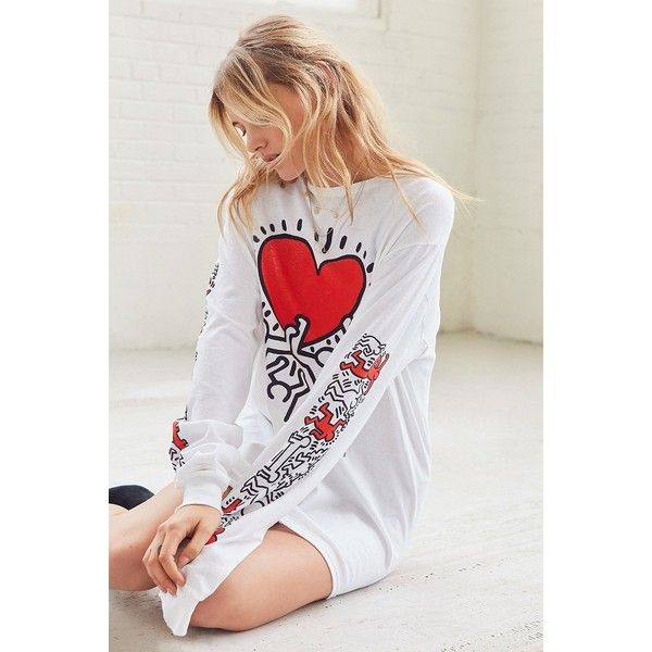 Junk Food Keith Haring Long Sleeve Tee ($44) via Polyvore featuring jewelry, junk food clothing, bunny rabbit jewelry and bunny jewelry