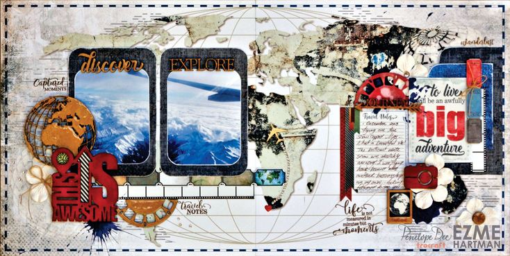 Double-page layout by Ezme Hartman
