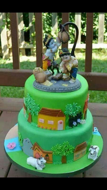 Cake Images Krishna : Krishna b day cake Birthday party ideas Pinterest