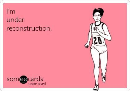 LOVE IT! I'm under reconstruction. Fitness, exercise, motivation.