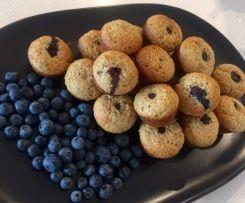 Banana, blueberry & chia muffins