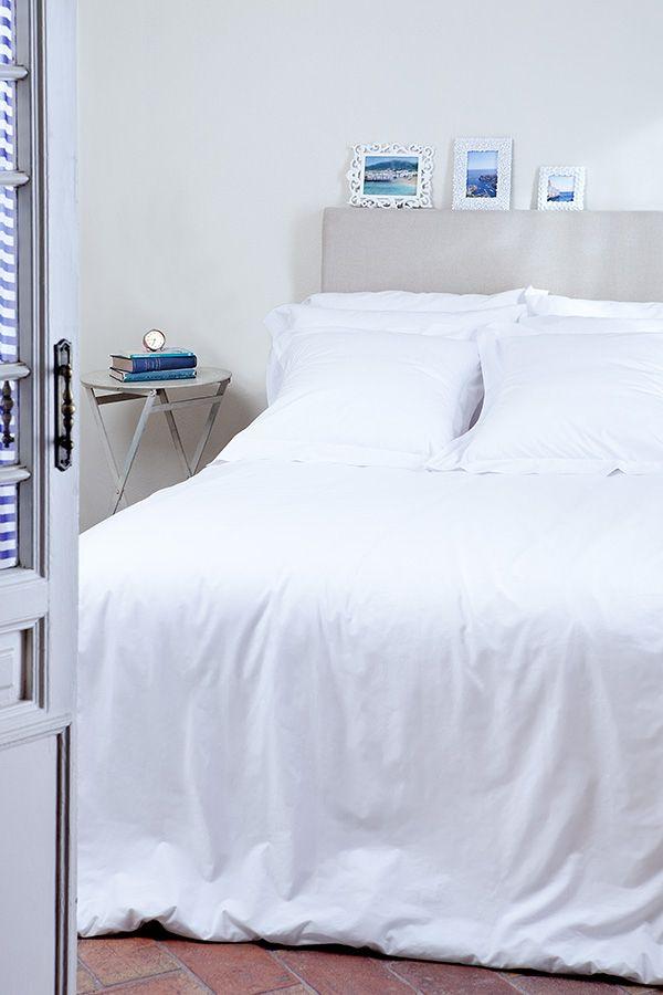 Ropa de cama online blanca casa pinterest for Cama blanca