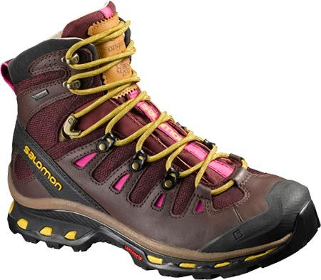 Women's Salomon Quest Origins 2 GORE-TEX Hiking Boot - Pinot Noir/Bitter Choc Leather/Maize with FREE Shipping & Exchanges. Adventure is always around the corner with the Quest Origins 2 GORE-TEX® Hiking Boot by