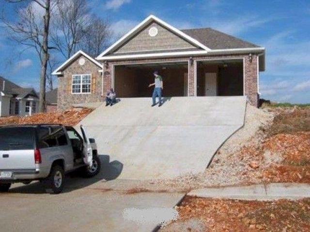 60 best design fails images on pinterest for Steep driveway construction