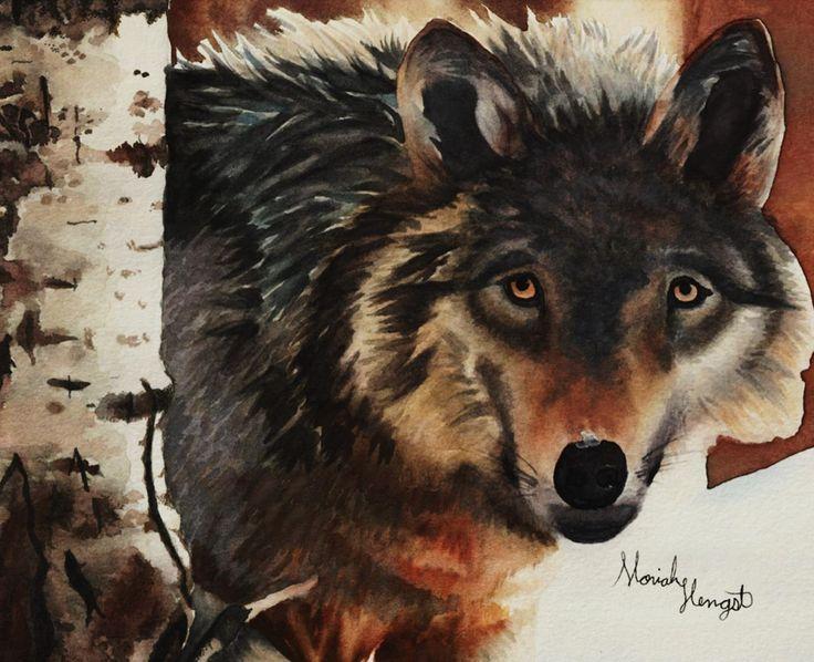 """The Stranger"" By Moriah Hope Watercolor"