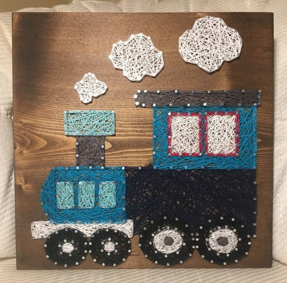 Custom Train String Art Nursery Decor Boy Room by KiwiStrings