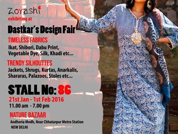 With only a few days left at The Design fair, visit us at Nature Bazaar, Andheria Modh, New Delhi. Splurge on a variety of Kurtas, Anarkalis, Palazoos, Dupattas, Sarees etc. #DesignFair #Exhibition #Handlooms #HandMadeWithLove #MadeInIndia #VisitUs #IndianApparel #Kurtas #India #Kurti