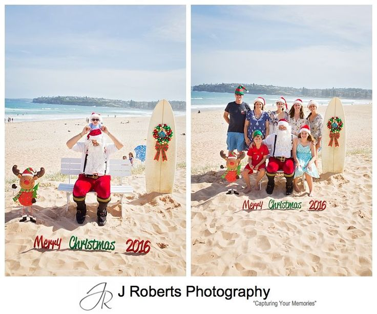 Aussie Santa Photos at Long Reef Beach 2016 - Beach Santa Photos Sydney - Professional Santa Photos on the Northern Beaches