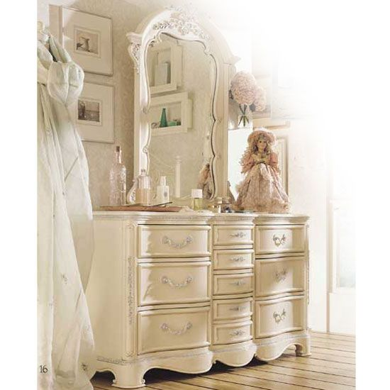 JESSICA MCLINTOCH FURNITURE  Jessica McClintock Romance Ten Drawer Dresser  GIRLS FURNITURE in