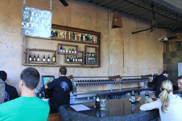 Stone brewery outside bar- escondido