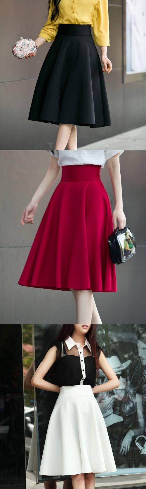 Women's High Rise Going out Casual/Daily Knee-length Skirts