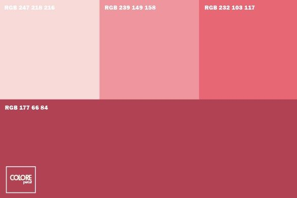 Abbinamento diverse tonalità di rosa