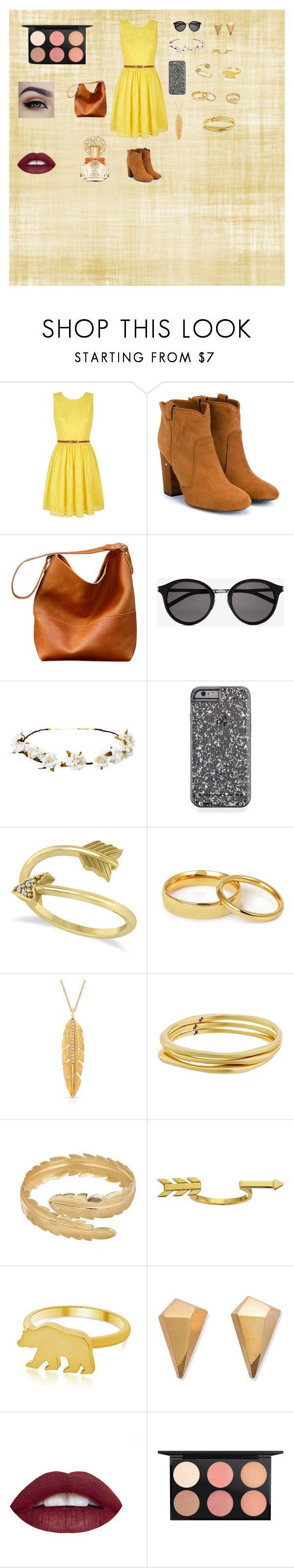 moda amarilla by maryleyma on Polyvore featuring Belleza, MAC Cosmetics, Vince Camuto, Yves Saint Laurent, Cult Gaia, Allurez, Karen Kane, George & Laurel, Gorjana and Yumi