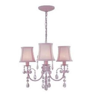 Pink nursery mini chandelier ceiling light fixture