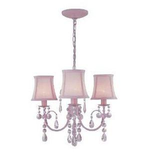 Pink nursery mini chandelier ceiling light fixture