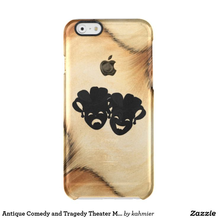 Antique Comedy and Tragedy Theater Masks Jester Clear iPhone 6/6S Case  20% off #sale www.leatherwooddesign.com