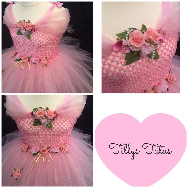 Pink Rose Flower Fairy Tutu Dress ,party dress,princess,fancy dress