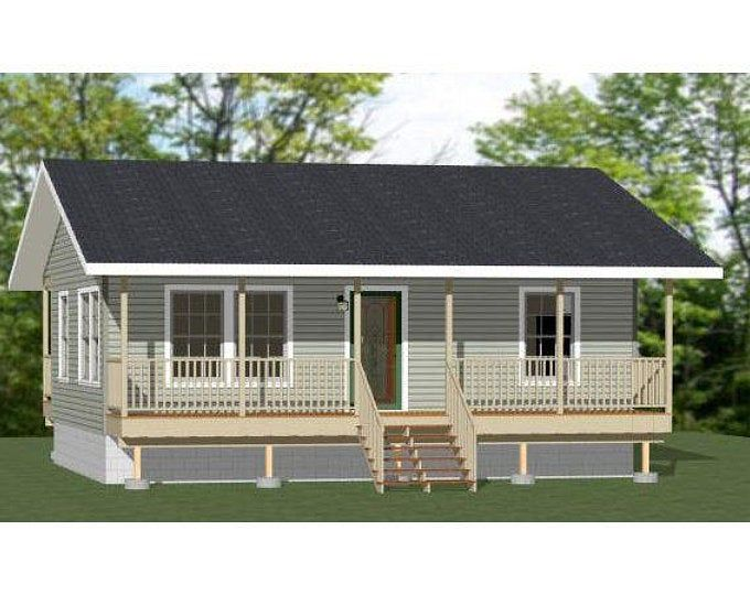 16x16 House 1 Bedroom 1 5 Bath 478 Sq Ft Pdf Floor Etsy House Plans Cabin House Plans Tiny Farmhouse